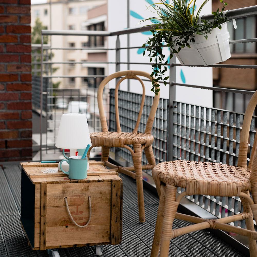 Terrasse dans un appartement meublé à la Résidence Accordage