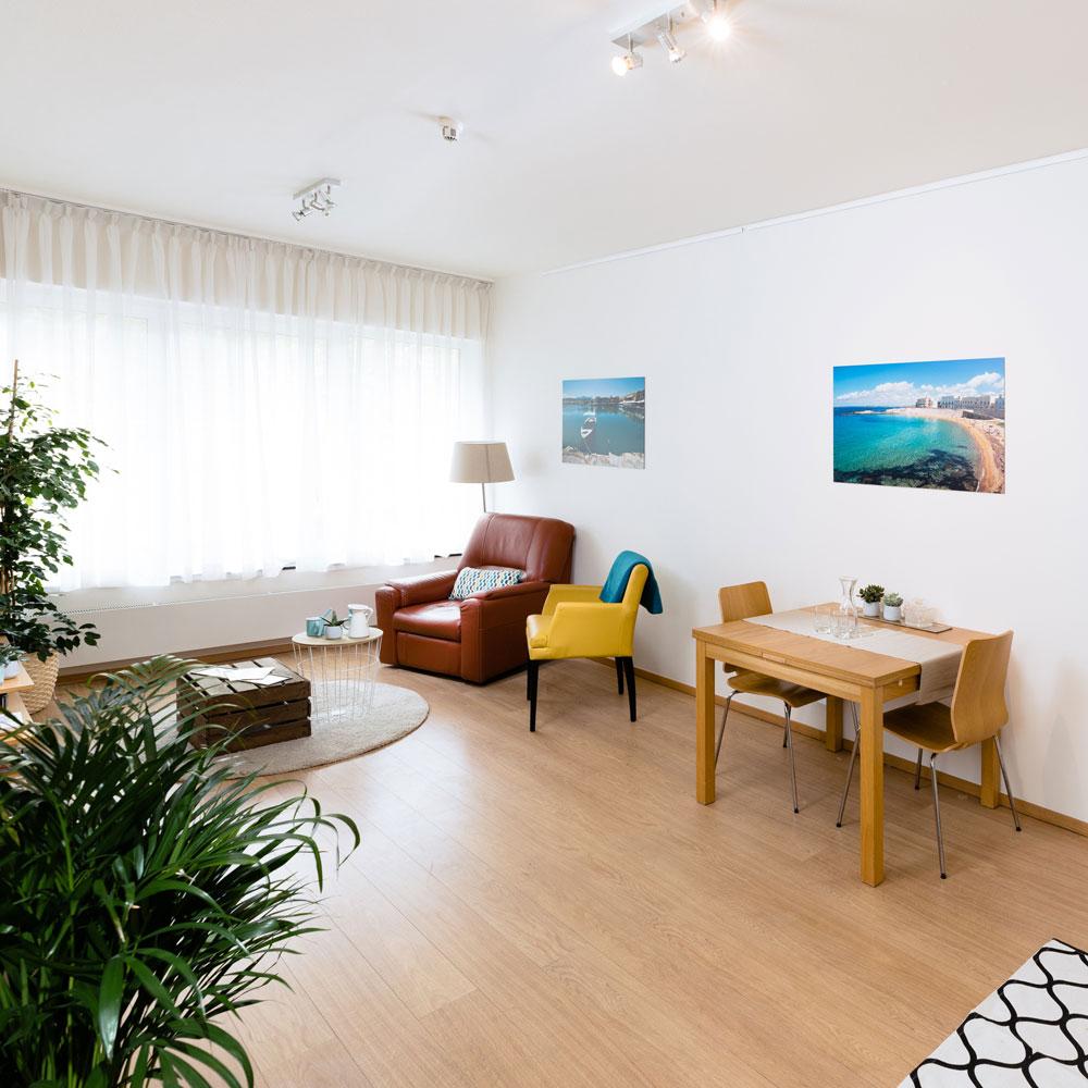 Lieu de vie dans un appartement meublé à la Résidence Accordage