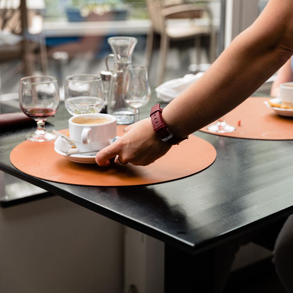 Service à table de la Brasserie Accordage